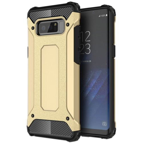 For Galaxy Note 8 Gold Magic Armor TPU + PC Combination Case