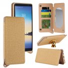 For Galaxy Note 8 Gold Back Case Cover with Card Slot, Photo Frame, Holder & Mirror