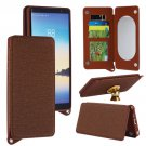 For Galaxy Note 8 Brown Back Case Cover with Card Slot, Photo Frame, Holder & Mirror