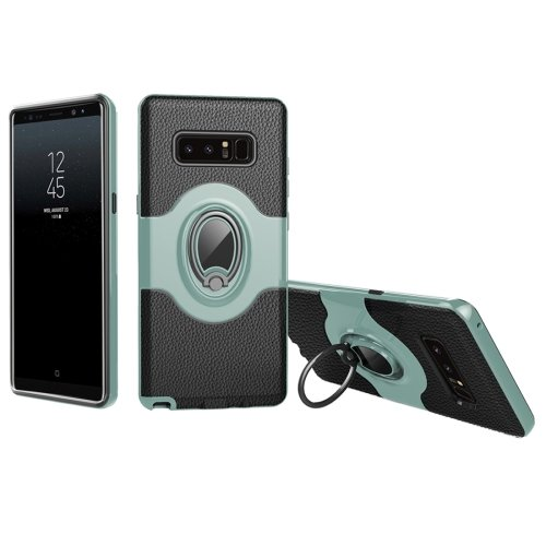 For Galaxy Note 8 Mint Green Drop proof Case Cover with Magnetic Rotatable Ring Holder