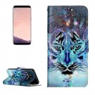 For Galaxy S 8 Wolf Pattern Leather Case with Holder, Card Slots, Wallet & Photo Frame