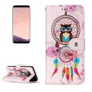 For Galaxy S 8 Bells Owl Pattern Leather Case with Holder, Card Slots, Wallet & Photo Frame