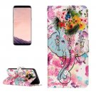 For Galaxy S 8 Elephant Pattern Leather Case with Holder, Card Slots, Wallet & Photo Frame