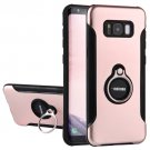 For Galaxy S 8 Rose Gold Motomo PC+TPU Protective Back Cover Case with Ring Holder