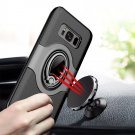 For Galaxy S 8 Black Full Coverage Case Cover with Magnetic Rotatable Ring Holder