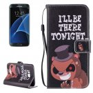 For Galaxy S 8 + Tonight Pattern Leather Case with Holder, Card Slots & Wallet
