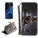 For Galaxy S 8 + Face Cat Pattern Leather Case with Holder, Card Slots, Wallet & Lanyard