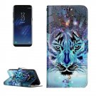 For Galaxy S 8 + Wolf Pattern Leather Case with Holder, Card Slots, Wallet & Photo Frame