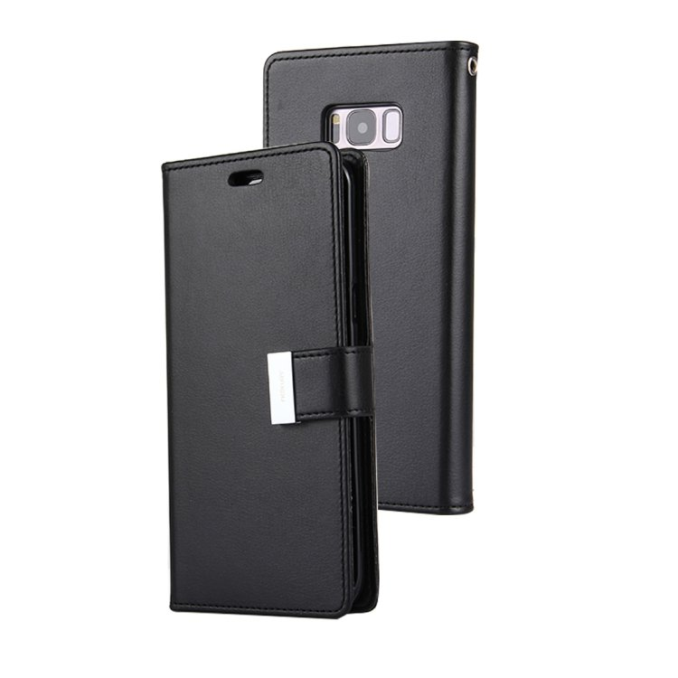 For Galaxy S 8 + Black Mercury Crazy Horse Texture Flip Leather Case with Card Slots & Wallet