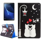 For Tab A 10.1 T580 Love Cats Pattern Flip Leather Case with Holder, Card Slots & Wallet