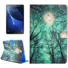 For Tab A 10.1 T580 Green Sky Pattern Flip Leather Case with Holder, Card Slots & Wallet