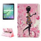 For Tab S2 9.7 T815/810 Colorful Girl Pattern Diamond Encrusted Leather Case with Holder