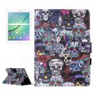 For Tab S2 9.7 T815 Ghost Head Pattern Flip Leather Case with Holder, Card Slots & Wallet