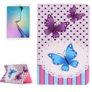 For Tab E 9.6 T560 Butterflies Pattern Horizontal Flip Leather Case with Holder