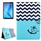 For Tab E 8.0 T375 Stripes and Anchor Pattern Flip Leather Case with Holder & Card Slot