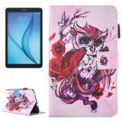 For Tab E 8.0 T377 Butterfly Owl Pattern Flip Leather Case with Holder & Card/Pen Slots