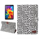 For Tab A 9.7 T550 White Leopard Pattern Leather Case with Holder, Card Slots & Wallet
