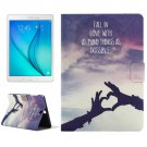 For Galaxy Tab A 9.7 T550 Sign of Love Pattern Horizontal Flip Leather Case with Holder