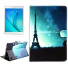 For Galaxy Tab A 9.7 T550 Eiffel Tower Pattern Flip Leather Case with Holder, Card Slots & Wallet