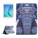 For Galaxy Tab A 8.0 ENKAY Cross Elephant Pattern Leather Case with Holder & Card Slots