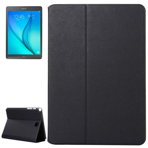 For Galaxy Tab A 8.0 Black Golden Sands Beach Texture Leather Case with Holder