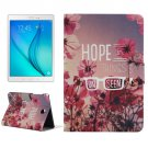 For Tab A 8.0 Beautiful Flowers Pattern Horizontal Flip Leather Case with Holder