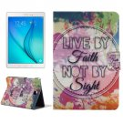 For Tab A 8.0 Inspirational Pattern Horizontal Flip Leather Case with Holder