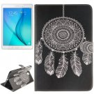 For Galaxy Tab A 8.0 Windbell Pattern Leather Case with Holder, Card Slots & Wallet