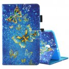 For Tab A 8.0 / T380/5 Butterflies Pattern Flip Leather Case with Holder & Card Slots