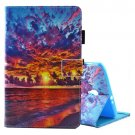 For Tab A 8.0 / T380/5 Sunset Pattern Flip Leather Case with Holder & Card Slots