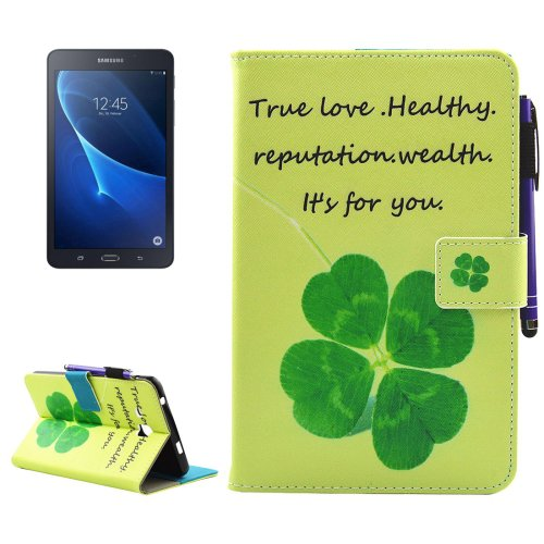 For Tab A 7.0 (2016) Clove Smart Cover Leather Case with Holder, Wallet & Card/Pen Slots