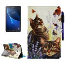 For Tab A 7.0 (2016) Cats Smart Cover Leather Case with Holder, Wallet & Card/Pen Slots