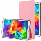 For Galaxy Tab S 8.4 / T700 Pink Frosted Texture Flip Leather Case with Holder