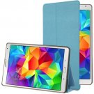 For Galaxy Tab S 8.4 / T700 Blue Frosted Texture Flip Leather Case with Holder