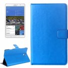 For Tab S 8.4 / T700 Blue Crazy Horse Texture Flip Leather Case with Holder