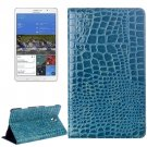 For Tab S 8.4 / T700 Blue Crocodile Texture Flip Leather Case with Holder