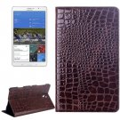 For Tab S 8.4 / T700 Brown Crocodile Texture Flip Leather Case with Holder