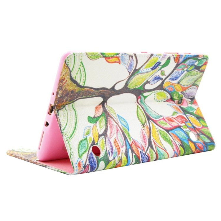 For Tab S 8.4 / T700 Tree Pattern Cross Texture Leather Case with Holder, Card Slots & Wallet