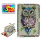 For Tab 4 10.1 / T530 Owl Pattern Leather Case with Holder, Card Slots & Wallet