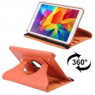 For Tab 4 8.0 / T330 Orange Litchi Texture Leather Case with 2-angle Viewing Rotating Holder