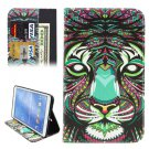 For Tab 4 8.0 / T330 Lion Pattern Horizontal Flip Leather Case with Holder, Card Slots & Wallet