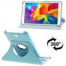 For Tab 4 7.0/SM-T230/1/5 Blue Litchi Texture Leather Case with 2-angle Rotating Holder