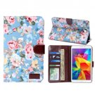 For Tab 4 7.0/SM-T230 Peony Pattern Denim Texture Leather Case with Card Slots & Holder