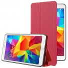 For Tab 4 7.0 / T230 Red Frosted Texture Flip Leather Case with Holder