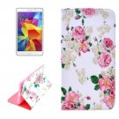 For Tab 4 7.0 / SM-T230 Chinese Rose Pattern Horizontal Flip Leather Case with Holder