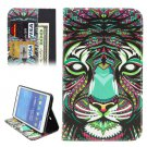 For Tab 4 7.0 / T230 Cartoon Lion Pattern Flip Leather Case with Holder, Card Slots & Wallet