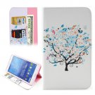 For Tab 4 7.0 / T230 Tree Flower Pattern Flip Leather Case with Holder, Card Slots & Wallet