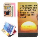 For Tab 4 7.0 / T230 Sea Sunset Pattern Flip Leather Case with Holder, Card Slots & Wallet