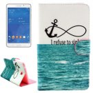 For Tab 4 7.0 / T230 Anchor Pattern Flip Leather Case with Holder, Card Slots & Wallet