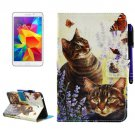For Tab 4 7.0/T230 Cats Pattern Smart Cover Leather Case with Holder, Wallet & Card/Pen Slots